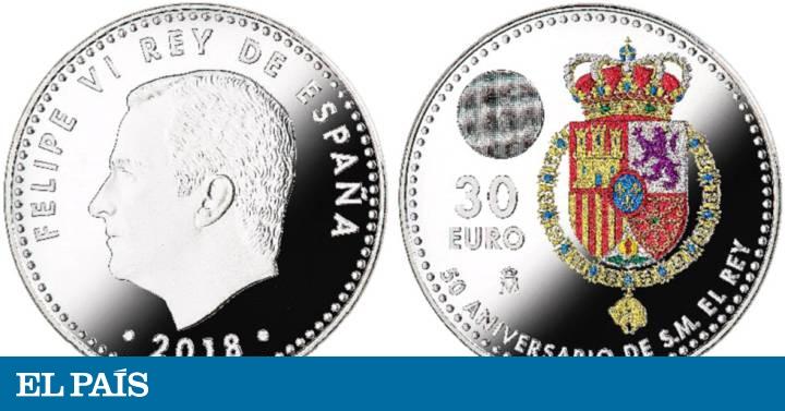 Una moneda de colores para celebrar el 50 cumpleaños del Rey Felipe ...