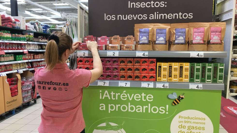 ¿Los insectos se comen enteros, con sus intestinos?