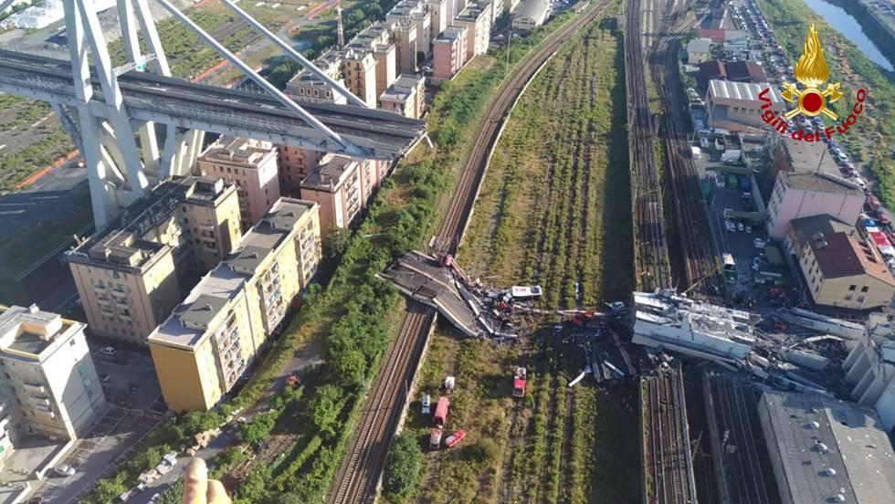 Las acciones de Atlantia se desploman en Bolsa tras la tragedia en Génova