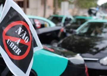 Los taxistas portugueses se plantan contra la ?ley Uber?