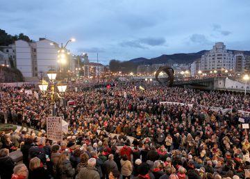 Miles de jubilados vascos piden mejores pensiones en otra marcha masiva