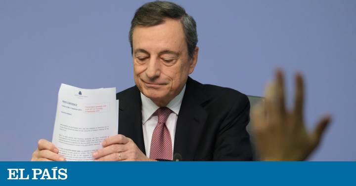 Draghi lanza un ambicioso paquete para estimular la economía por el temor a la recesión
