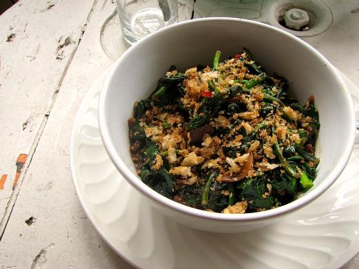 Cocinar Espinacas Frescas   Espinacas Salteadas Con Migas De Mostaza El Comidista El Pais