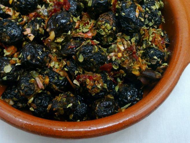 como preparar las aceitunas negras secas