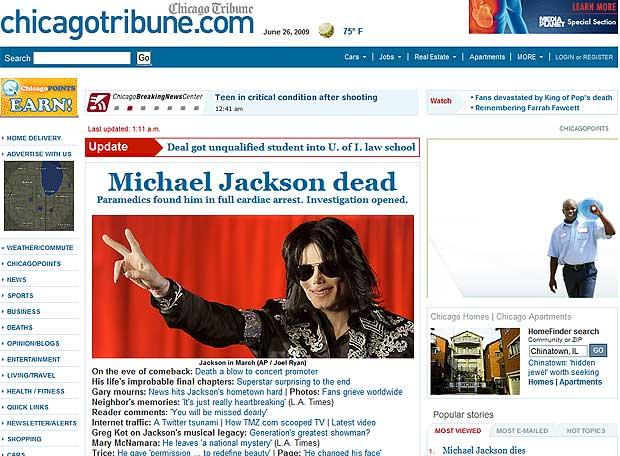Fotos la prensa internacional aborda la muerte de michael for En que ano murio michael jackson