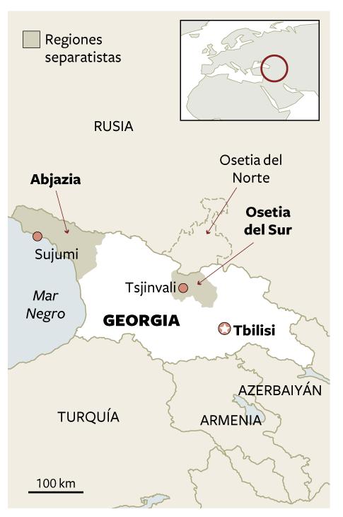 Mapa De Situación De Georgia Actualidad EL PAÍS - Mapa de georgia