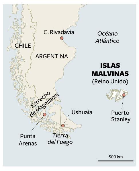 Islas Malvinas Mapa Mundi.Mapa De Situacion De Las Islas Malvinas Actualidad El Pais