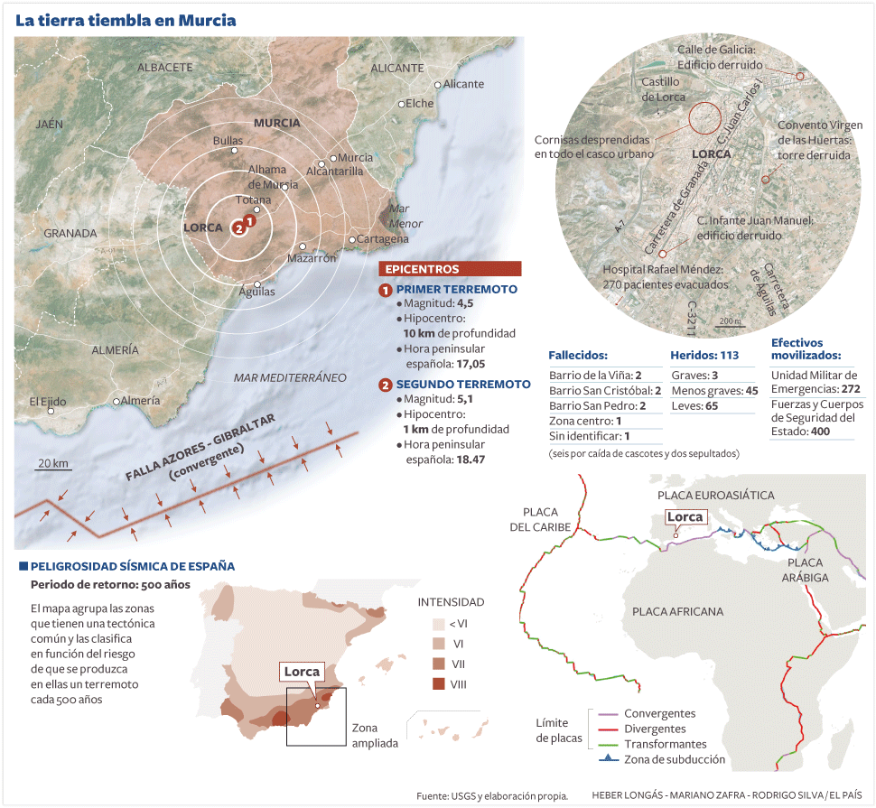 Terremoto en lorca actualidad el pa s - Lorca murcia fotos ...