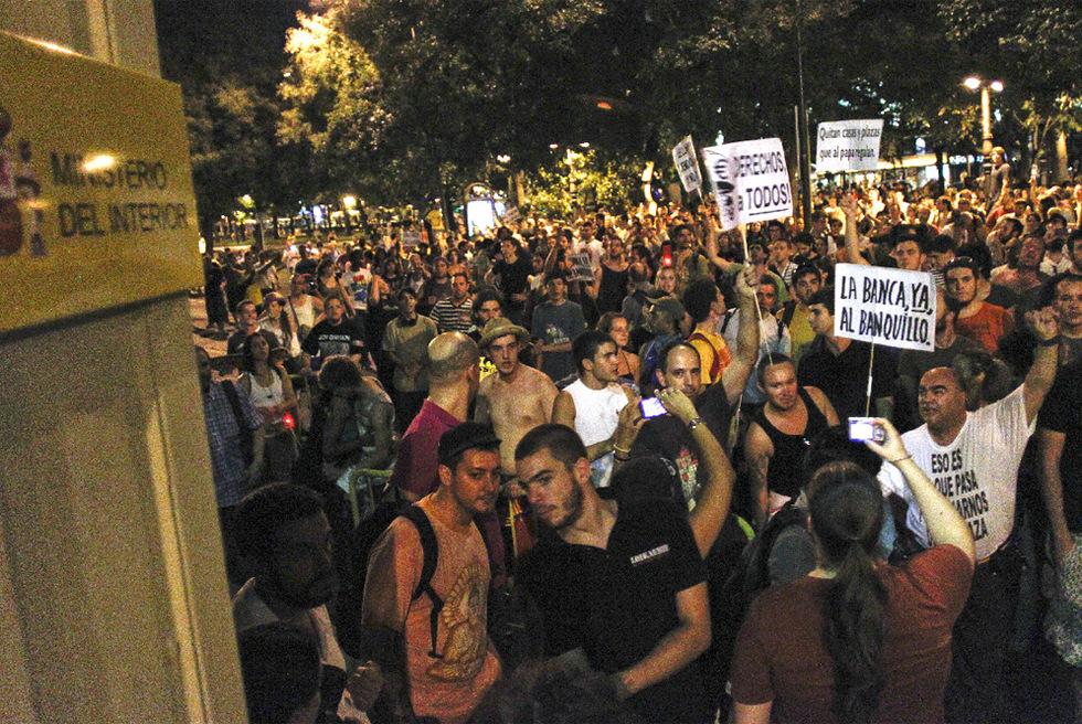 Fotos cuatro d as de protestas del 15 m en madrid for Donde esta el ministerio del interior