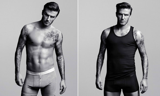 David Beckham en dos imágenes de la campaña de ropa interior de H M c89da8a09a27