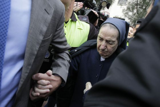 Sister Maria Leaving Court After A Hearing In April