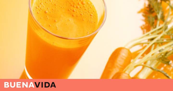 beneficios de tomar jugo de zanahoria