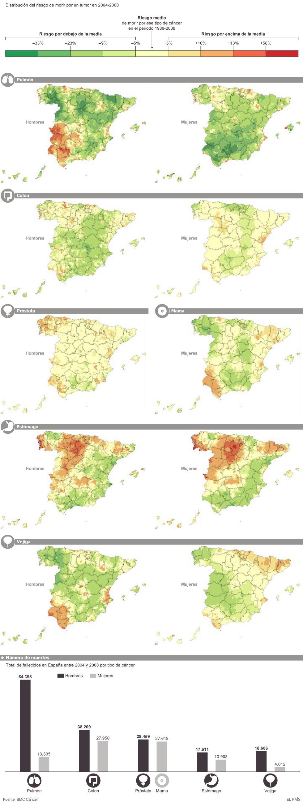 mapa demográfico del cáncer de próstata
