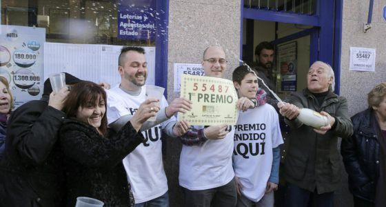 55487, primer premio del sorteo de la lotería de El Niño - EL PAÍS