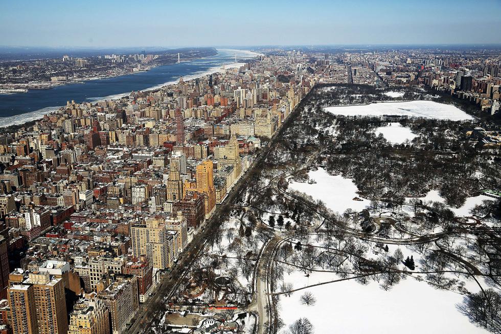 Fotos Nova York Com Neve Vista Do C 233 U El Pa 205 S