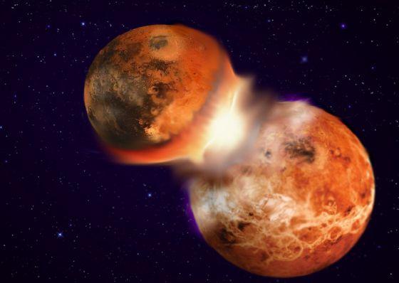 Resultado de imagen de Colisión de planetas errantes