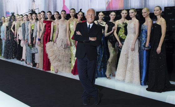 Giorgio Armani durante la celebración del 40 aniversario de la marca. dbb4b51347f5