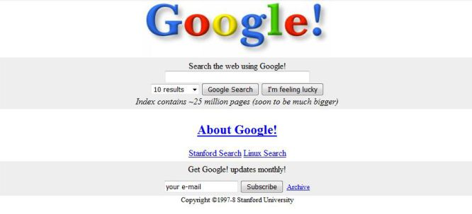 how to search google for old websites
