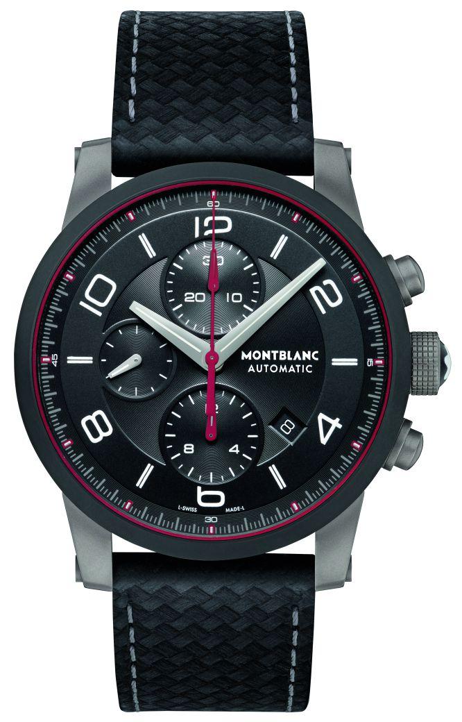 be61be64f1e7 La caja de 43 mm del TimeWalker Urban Speed Chronograph de Montblanc está  elaborada en acero