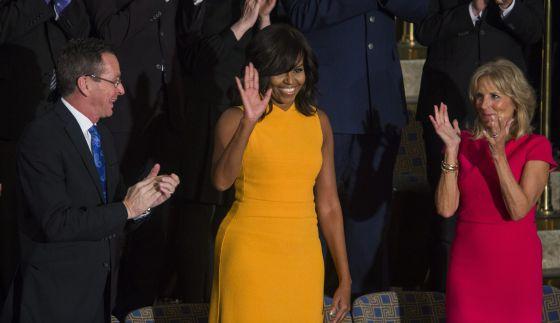 e21c5d340e Agotado el vestido que lució Michelle Obama en el Congreso de EE UU ...