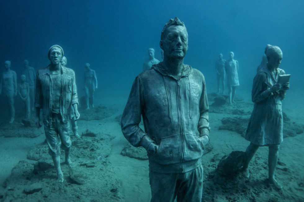 Image result for lanzarote underwater sculpture