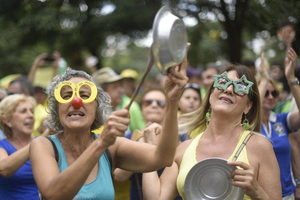 Os protestos contra Dilma em imagens