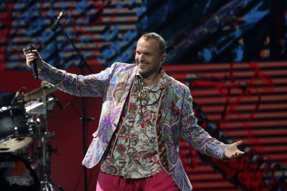 Su estilismo extravagante se ha mantenido con el paso del tiempo. Esta imagen fue tomada durante su actuación en el festival Viña del Mar en 2013.