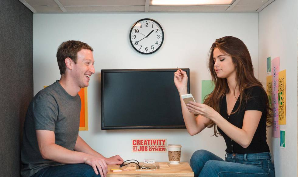 Selena Gomez celebra con Mark Zuckerberg su éxito en Instagram | Estilo |  EL PAÍS