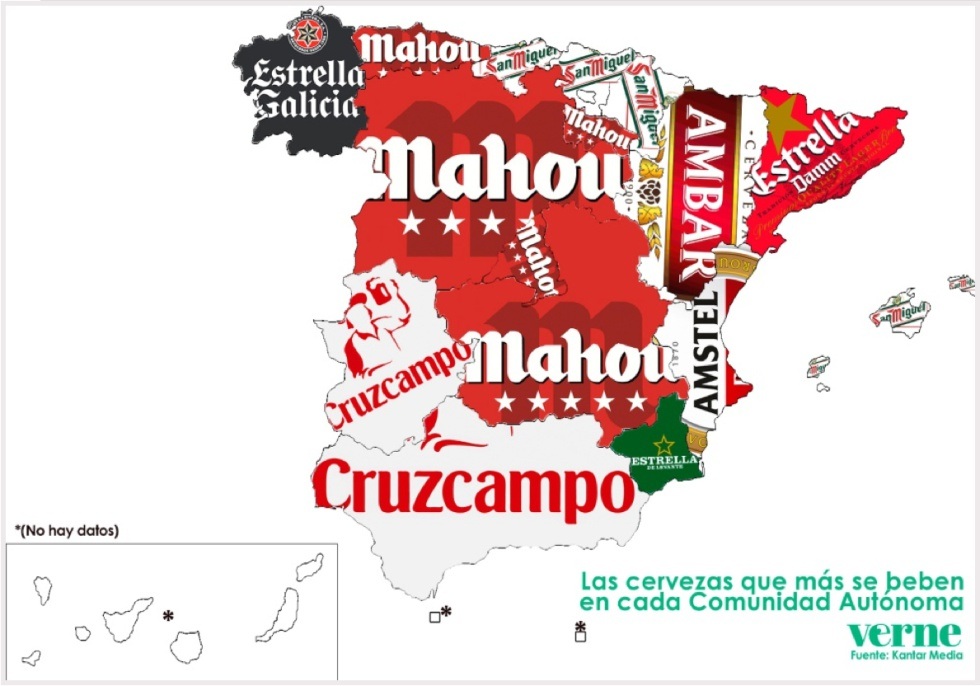 Spanish drinking habits: The beer map of Spain | In English ...