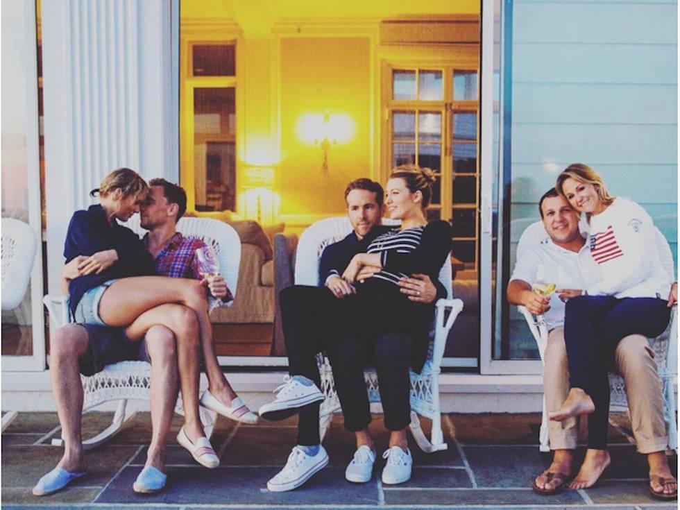 Taylor Swift y Tom Hiddleston, Ryan Reynolds y Blake Lively, y los amigos de 09b9f00d3b