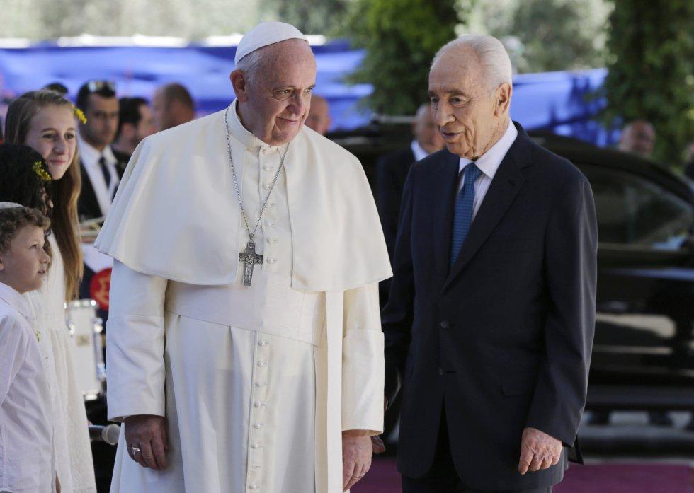 Peres con el Papa Francisco, en Jerusalén en 2104.