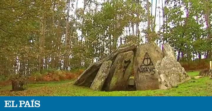 Vdeo Aparece un grafiti de Harry Potter en un dolmen