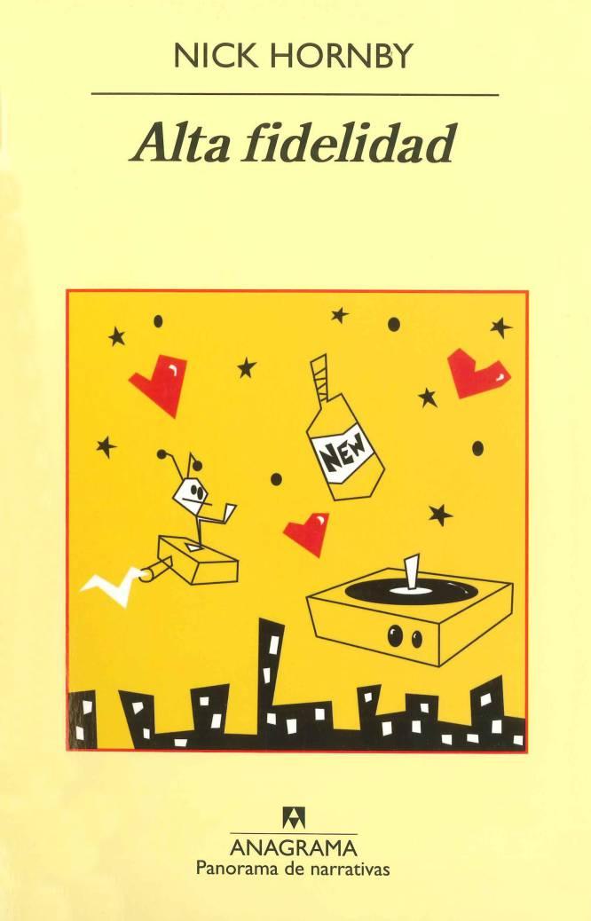 """Rob, el melómano protagonista de 'Alta fidelidad' (Nick Hornby, 1995), rompe con su novia Laura, y para lograr entender la causa de su fracaso rememora las cinco separaciones más relevantes de su historial, desde que tenía 12 años: descubre que, a pesar de la experiencia, ni las relaciones ni las rupturas se hacen más fáciles. El lector puede sentirse identificado con algunas de las reacciones de Rob, como dejarlo todo y ponerse a trabajar en una tienda de discos o torturarse por ser un imán para los rechazos. El despecho, la falta de compromiso, la infidelidad. """"Deja que tu corazón asimile los errores de Rob (y los tuyos propios). ¿Escoges mal a tus parejas? ¿No estás dando a tu compañero el apoyo que necesita? ¿O le estás poniendo la banda sonora equivocada a tu vida amorosa? Aprende a hacer las cosas bien y esta será tu última ruptura""""."""