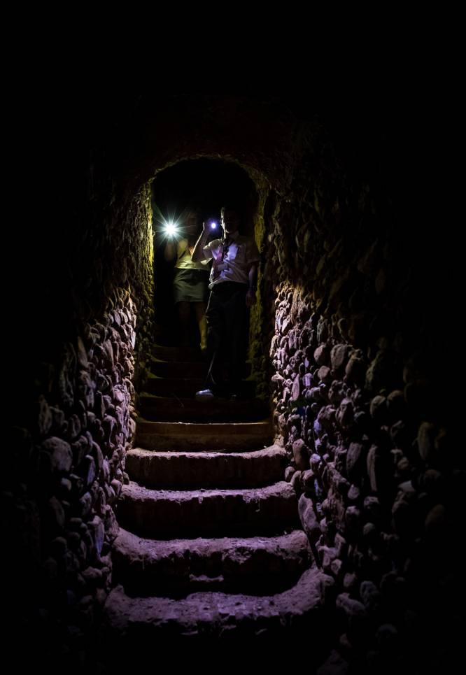 Túnel hacia el bosque de San Pedro.