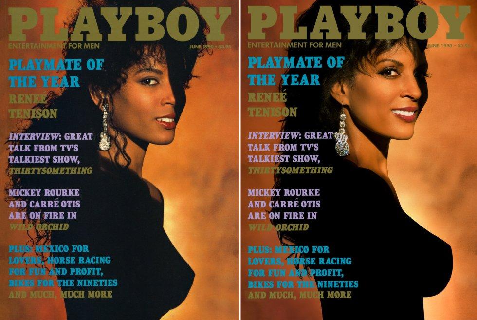 """Reneé Tenison foi a modelo do ano da 'Playboy' em 1990 e se tornou a primeira afro-americana a ser eleita para o posto. """"Houve uma certa polêmica com a minha decisão porque algumas mulheres disseram que estavam me usando. E eu disse a elas: 'Não tenho o direito de escolher o que quero fazer? Se quero posar nua, deveria poder fazer isso'. E quando a revista saiu, a resposta foi positiva para 90% dos leitores. Talvez 10% não tenham gostado. Quando olhamos para trás, vemos que todas as grandes modelos, como Christy Turlington e Naomi Campbell, posaram nuas. Vejo isso como o começo"""", afirma ela sobre o ensaio que protagonizou e agora recria 30 anos depois."""