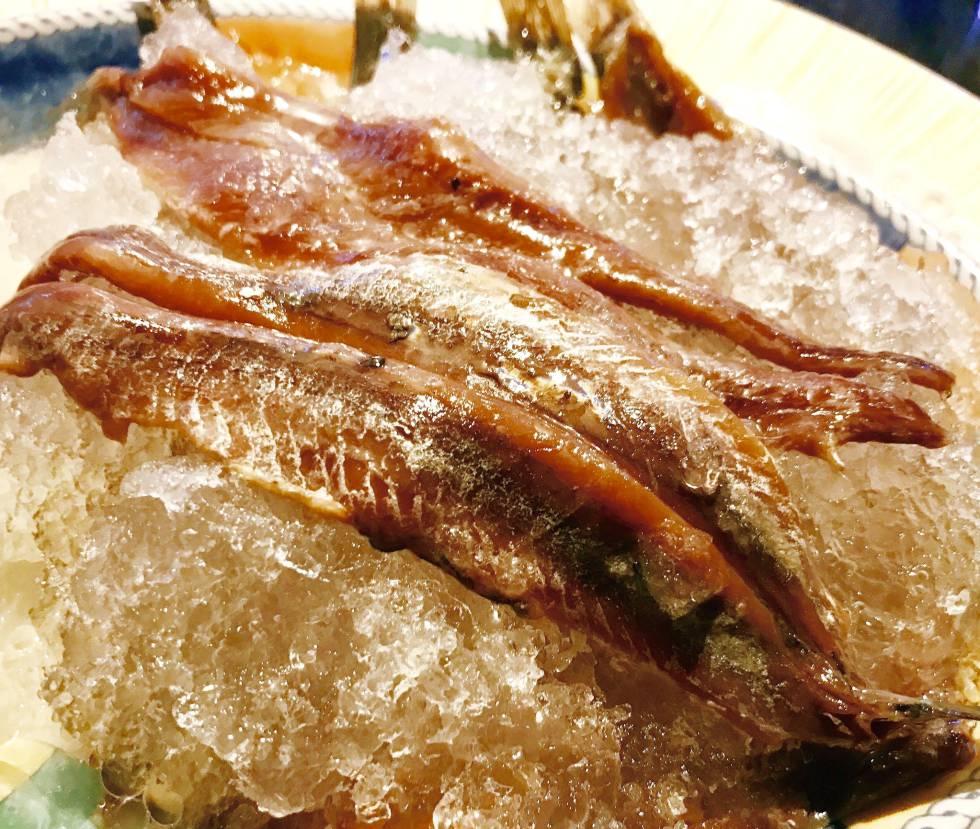 Las Anchoas En Hielo Picado Del Restaurante Palomeque Blog Gastronotas De Capel El País