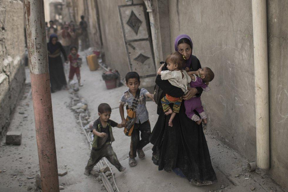 Las fuerzas iraquíes creen que quedan menos de 200 milicianos yihadistas en la Ciudad Vieja de Mosul en una zona de no más de 300 por 500 metros de extensión.