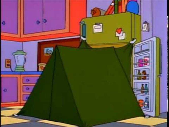 Obviamente todos -menos Homer- sabemos que no puede hacerse, que no es posible, que en el mundo normal, lejos de la televisión, sería una idea a desechar desde el primer minuto pero… sería tan bonito eso de la nevera.