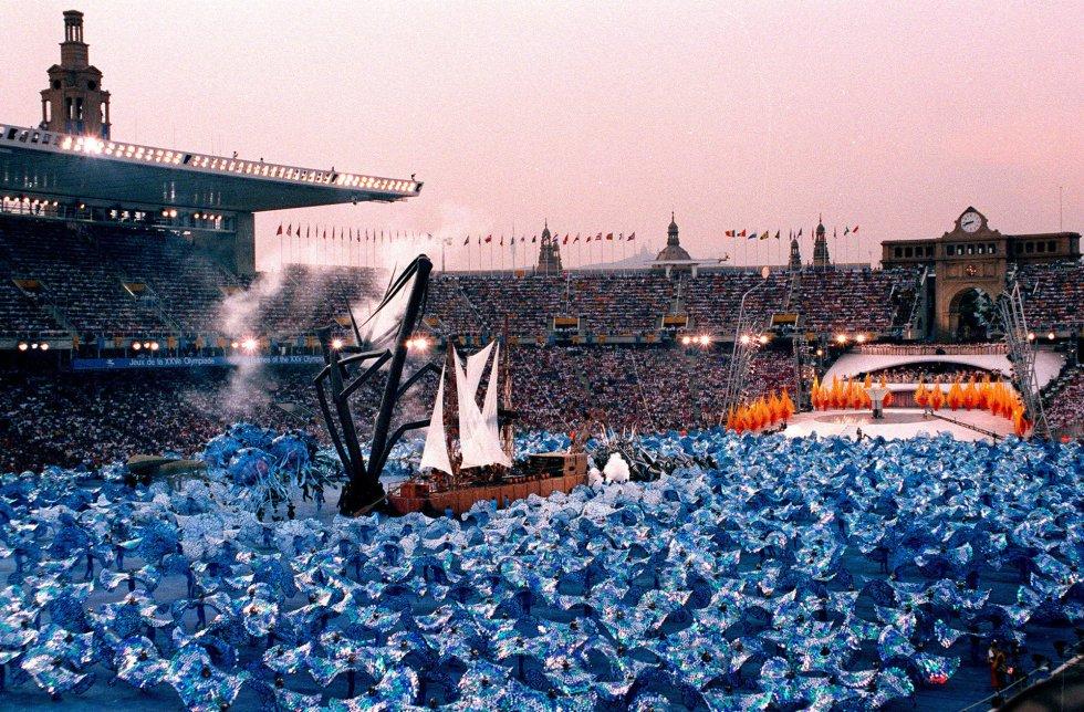 Fotos Asi Fue La Inauguracion De Los Juegos Olimpicos De Barcelona