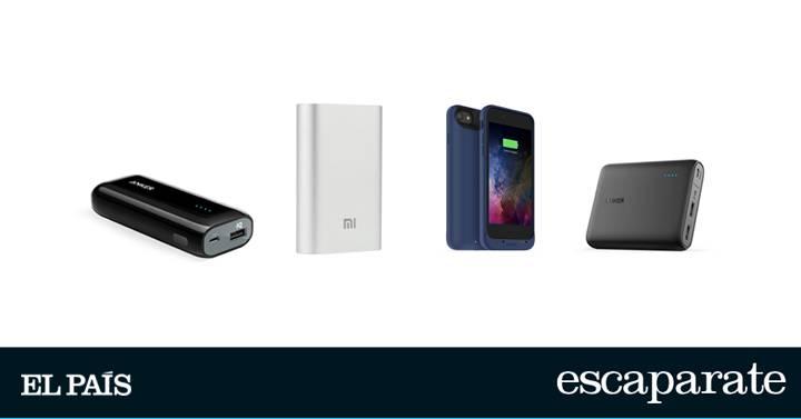 fcd04112e5a Las cuatro mejores baterías externas para el móvil | Escaparate | EL PAÍS