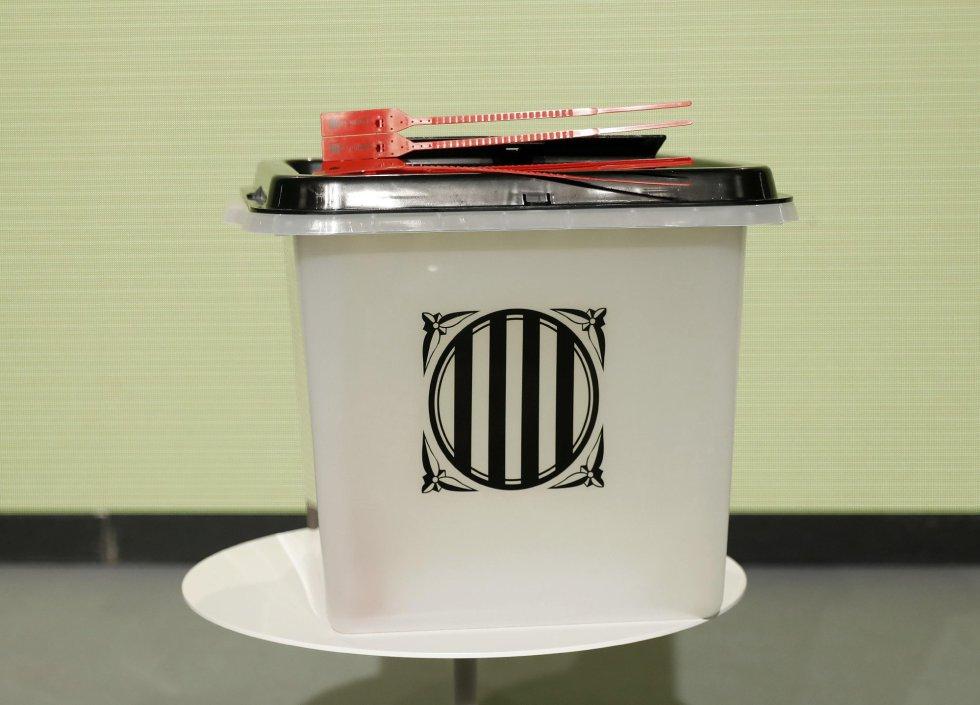 El modelo de urna que quiere instalar el Govern en los 2.315 colegios electorales previstos para el 1 de octubre.