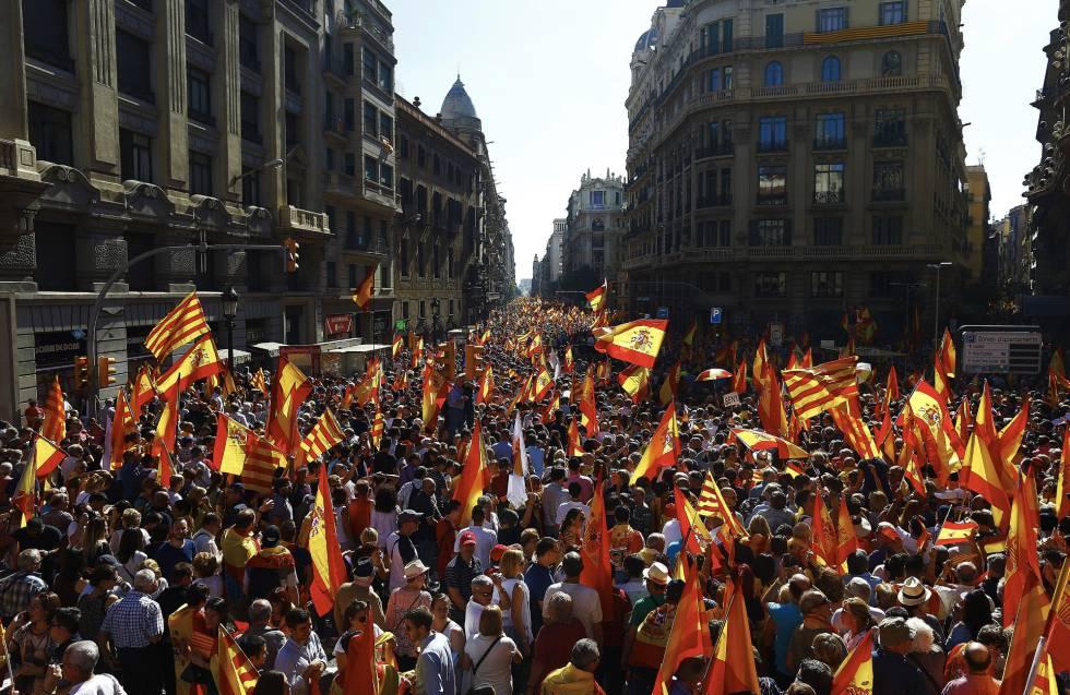 Vista de los participantes en la manifestación.