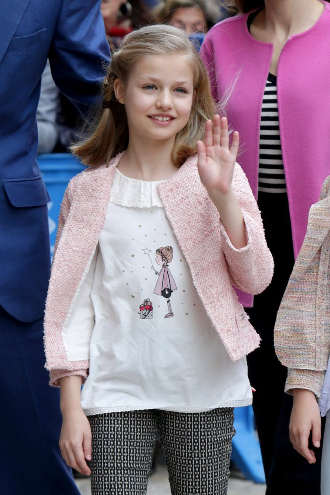 La princesa Leonor, durante la misa de Pascua en Palma de Mallorca.