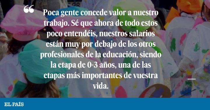 La Carta De Una Maestra A Sus Alumnos De La Escuela Infantil