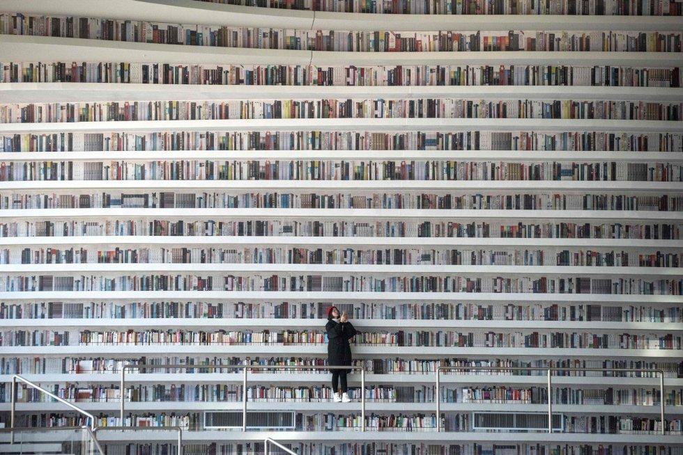 Fotos: Tianjin Binhai, la biblioteca futurista china