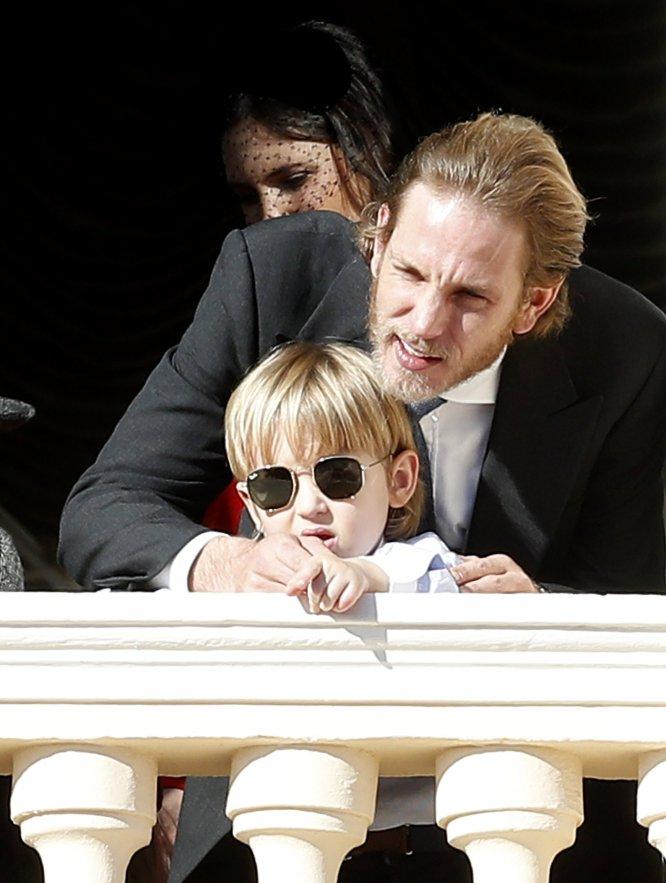 Andrea Casiraghi, con su hijo mayor Sacha.