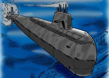 El submarino argentino ARA San Juan, en viñetas