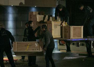 Dispositivo policial en el Museo de Lleida para retornar el arte de Sijena, en imágenes