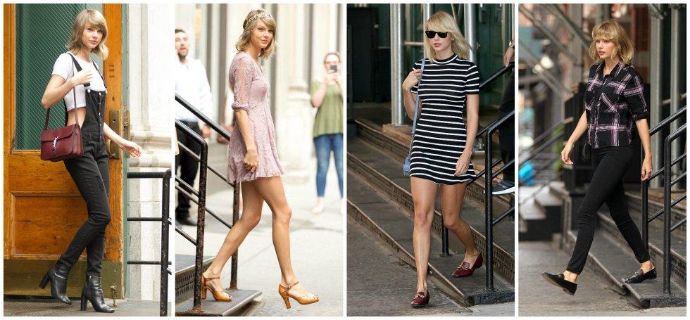 Son muchos los fotógrafos y seguidores de Taylor Swift que la esperan siempre a las puertas de su lujoso apartamento de Nueva York. Entradas y salidas que son casi siempre fotografiadas, y que se han convertido en una muestra gráfica del estilo, clásico, de la cantante.