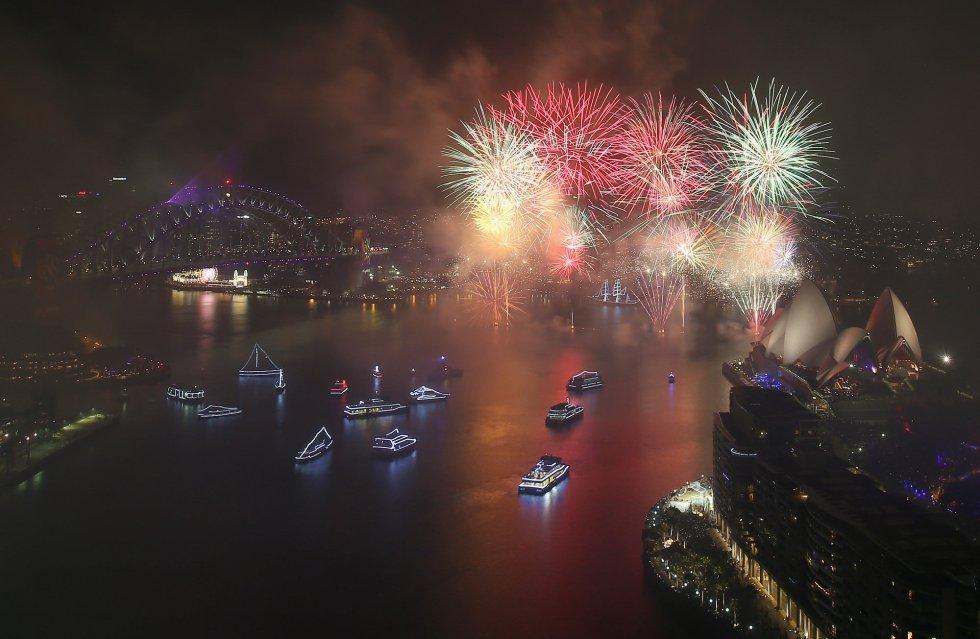 Vista general de la bahía de Sídney para celebra el Año Nuevo.